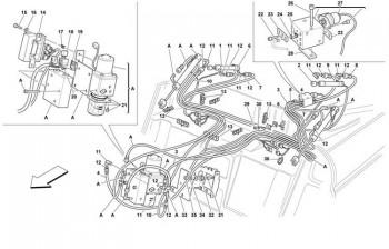 Ferrari F355 convertible hydraulic components