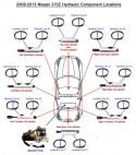 '09-'13 Nissan 370Z 97093K hydraulic system diagram