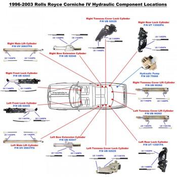 Rolls Royce Corniche Hydraulics UB92045 UB92044 UT13581PA UT13582PA UB92029 UB92028 UB92048 UB92047 UB90262 UV20837PA UD75668
