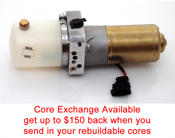 Special option: Core Exchange for '08-'09 Audi A4 Cabriolet Top Hydraulic Pump without valve block or frame