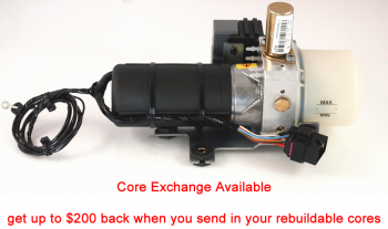 Special Option: Core exchange for '98-'06 Audi TT Convertible Top Hydraulic Pump