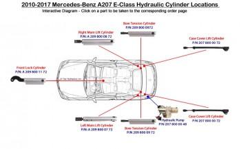 New W209 CLK Single Hydraulic Line 66
