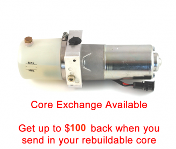Special option: Core Exchange for '03-'07 Audi A4 Cabriolet Top Hydraulic Pump without valve block or frame
