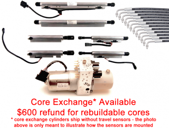 Special Option: Core Exchange for Full Set of Infiniti G37 Cylinders with New Hoses and rebuilt Hydraulic Pump